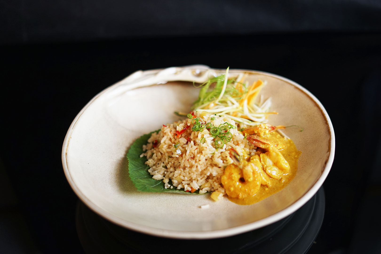 PARADISE RICE WITH PRAWN CURRY