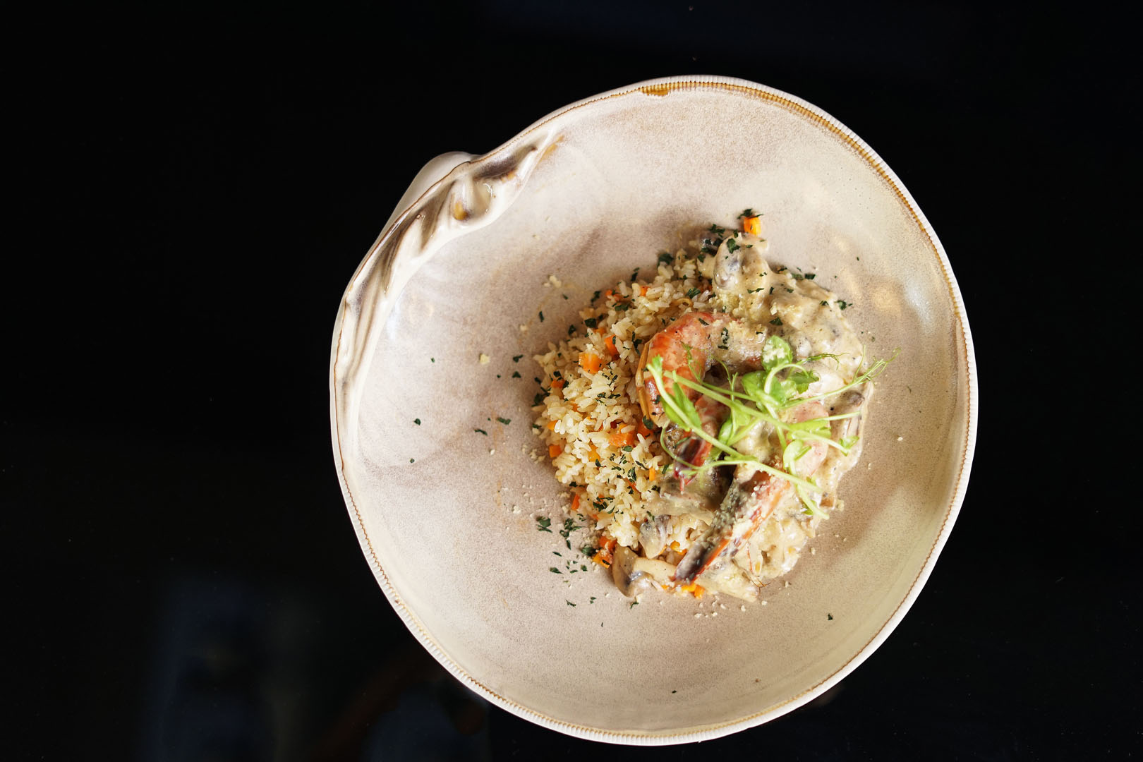 CREAMY KING PRAWN WITH BUTTER RICE