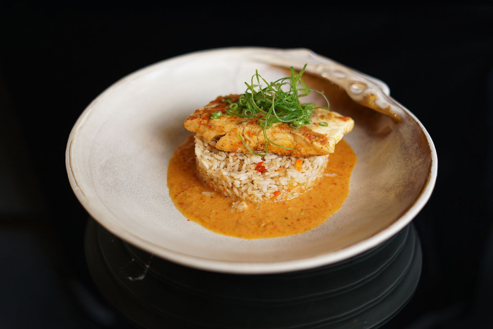 RED SNAPPER WITH RICE AND SAMBAL